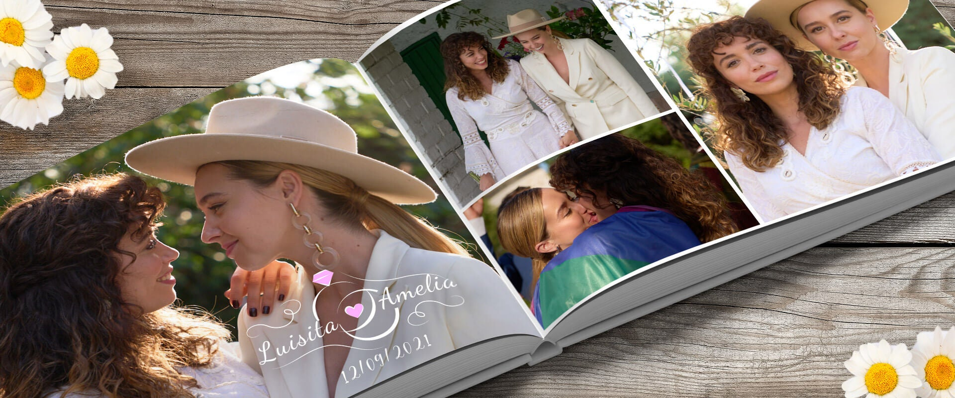 Álbum de fotos de la boda de Amelia y Luisita